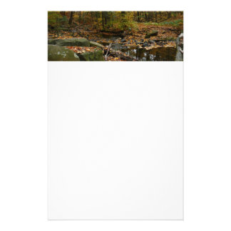 Fall Creek with Reflection at Laurel Hill Park Stationery