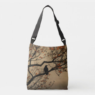 Fall Crow In Tree Crossbody Bag