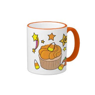 Fall Cupcake with Halloween Candy Mugs