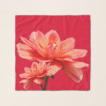 """""""Fall Dahlias"""" Red Square Chiffon Scarf<br><div class=""""desc"""">Monogrammed """"Fall Dahlias"""" on Red Square Chiffon Scarf.  For the three square options,  not for the long or longer options.</div>"""