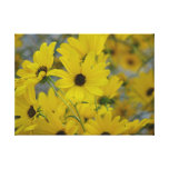Fall Daisy Print Gallery Wrapped Canvas