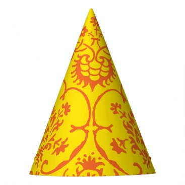 Halloween Themed Fall Damask Party Hat