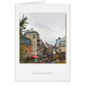 Fall Day at Tremblant Quebec Greeting Cards