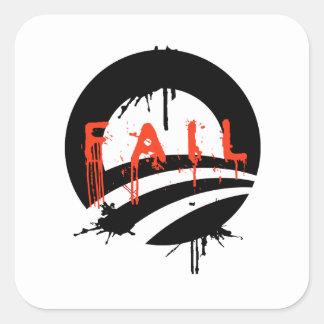 Fall de Obama Pegatina Cuadrada