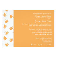 Fall decorative graphic yellow leaves wedding personalized   invitation