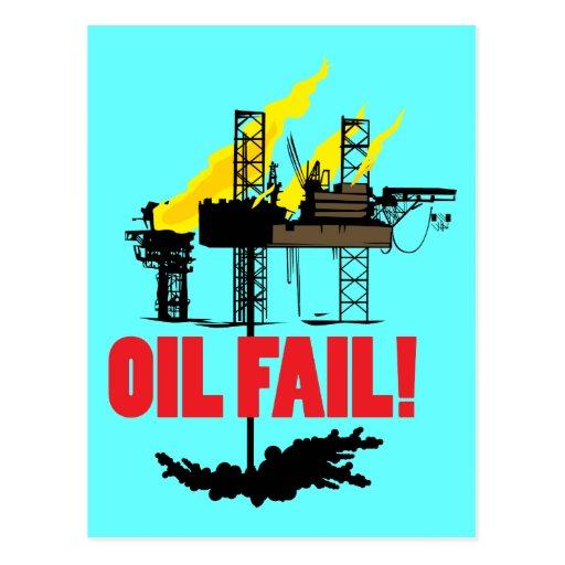 Fall del aceite postales