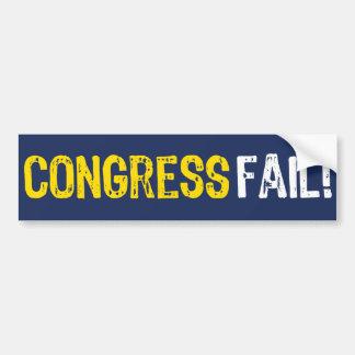 ¡Fall del congreso! Pegatina para el parachoques Pegatina De Parachoque