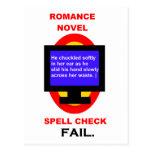 Fall del control de encanto de la novela romántica postales