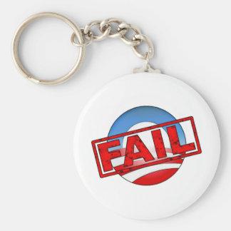 Fall del logotipo de Obama Llavero Redondo Tipo Pin