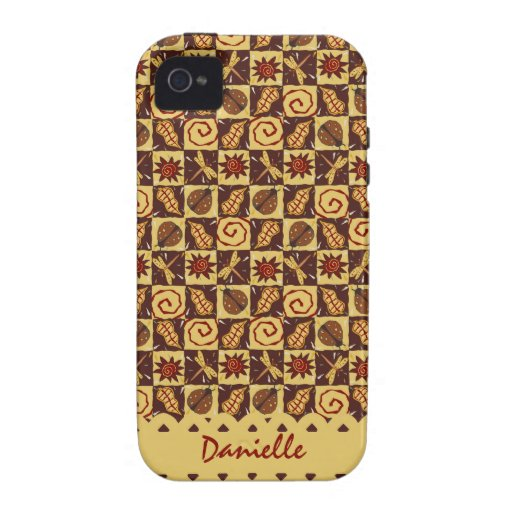 Fall Doodle Cellphone Case Vibe iPhone 4 Cases
