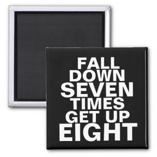 Fall Down Workout Motivation Magnet