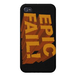 ¡Fall épico! 3D caja de la mota del iPhone 4 iPhone 4 Carcasas
