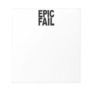Fall épico bloc de notas