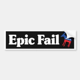 Fall épico pegatina de parachoque