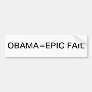 FALL ÉPICO de Obama= Etiqueta De Parachoque