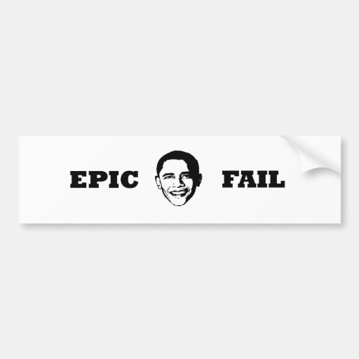 Fall épico de Obama Etiqueta De Parachoque