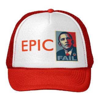Fall épico de Obama Gorros
