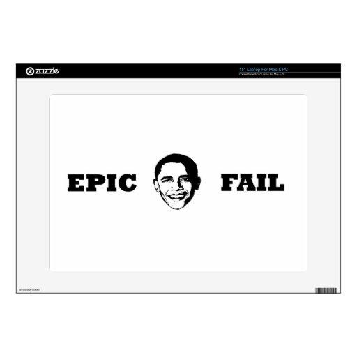 Fall épico de Obama Calcomanías Para 38,1cm Portátiles