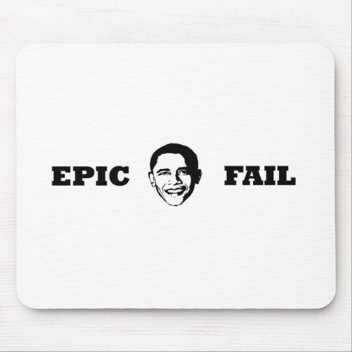 Fall épico de Obama Tapetes De Ratones