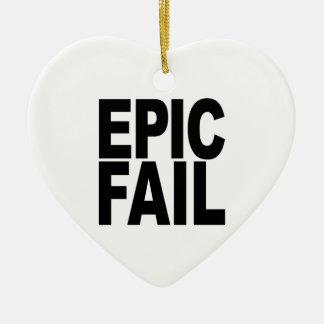 Fall épico adorno de cerámica en forma de corazón