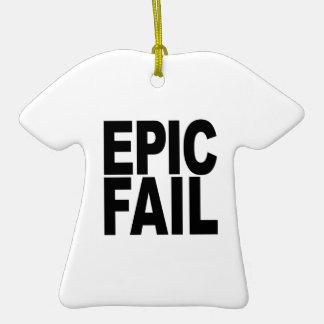Fall épico adorno de cerámica en forma de camiseta