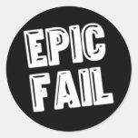 Fall épico etiqueta redonda