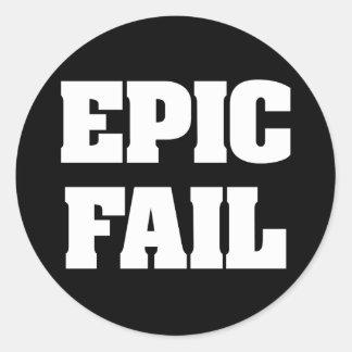 Fall épico etiquetas redondas