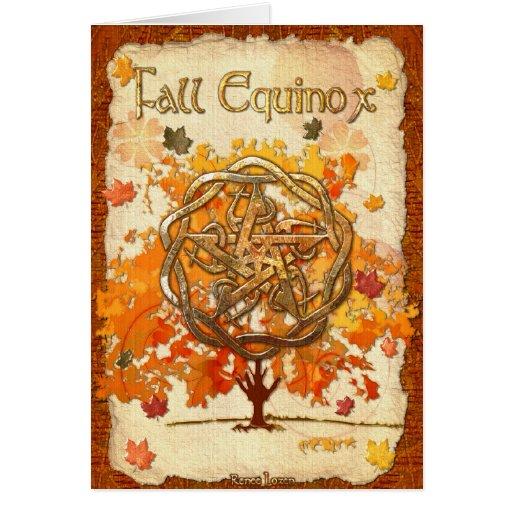 Fall Equinox Pagan Wiccan Card Zazzle