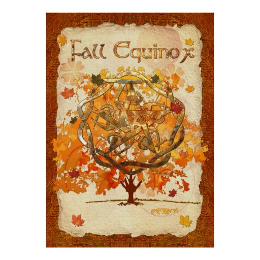 Fall Equinox Pagan Wiccan Poster