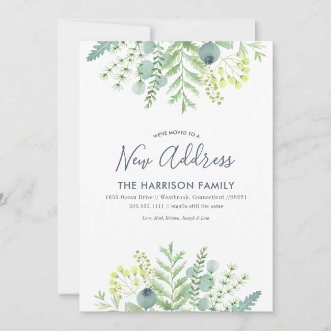 Fall Eucalyptus Floral Moving Announcement