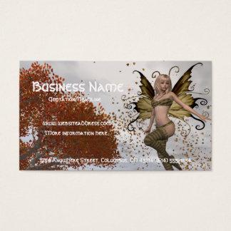 Fall Faerie Design 1 - Fantasy Business Card
