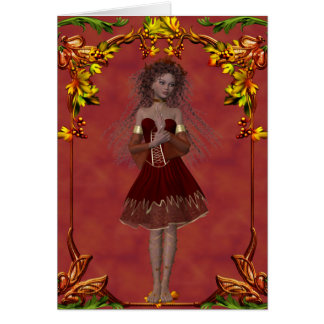Fall Fairy Design 2 - Fantasy Greeting Card