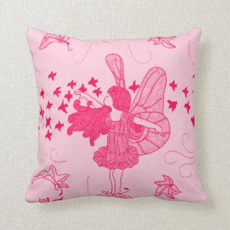 Fall Fairy Kids Throw Pillow (Pinks)