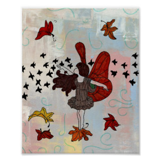 Fall Fairy Poster (Fall Colors)