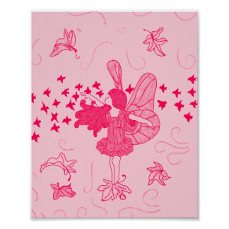 Fall Fairy Poster (Pinks)