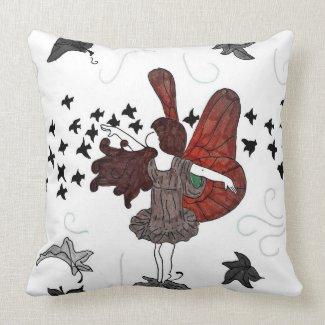Fall Fairy Throw Pillow
