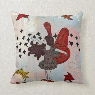 Fall Fairy Throw Pillow (Autumn Colors)