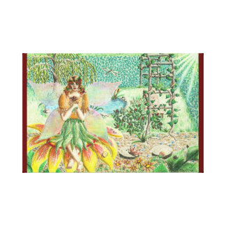 Fall Fairy Wrapped Canvas Canvas Print