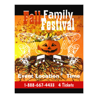 Fall  Family Festival Halloween Fall Event Flyer