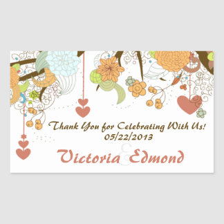 Fall Fantasy Floral Rectangle Stickers