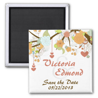 Fall Fantasy Floral Save the Date Magnet