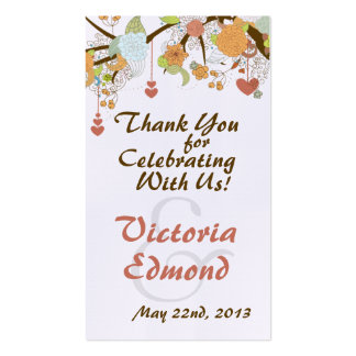 Fall Fantasy Floral Wedding Favor Tags Business Card