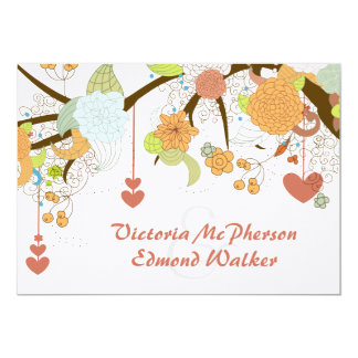 Fall Fantasy Floral Wedding Invitation