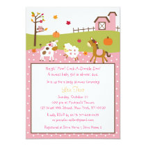 Fall Farm Animal Pumpkin Baby Shower Invitations
