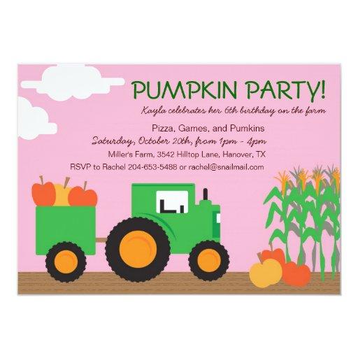 Fall Farm Theme Party Invitation