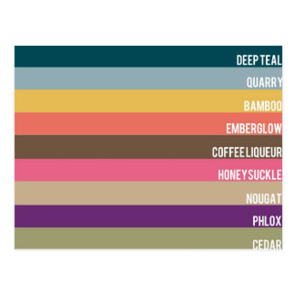 Fall Fashion for Women 2011 - Top 10 Colors Postcard