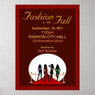 Fall Fashion Show Poster print