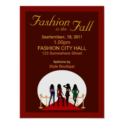 Fall Fashions Women  on Fall Fashion Show Poster Features The Silhouette Of Four Fashion