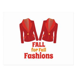Fall Fashions Postcard
