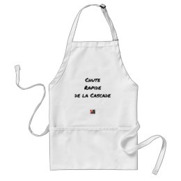 FALL FAST OF the CASCADE - Word games Adult Apron